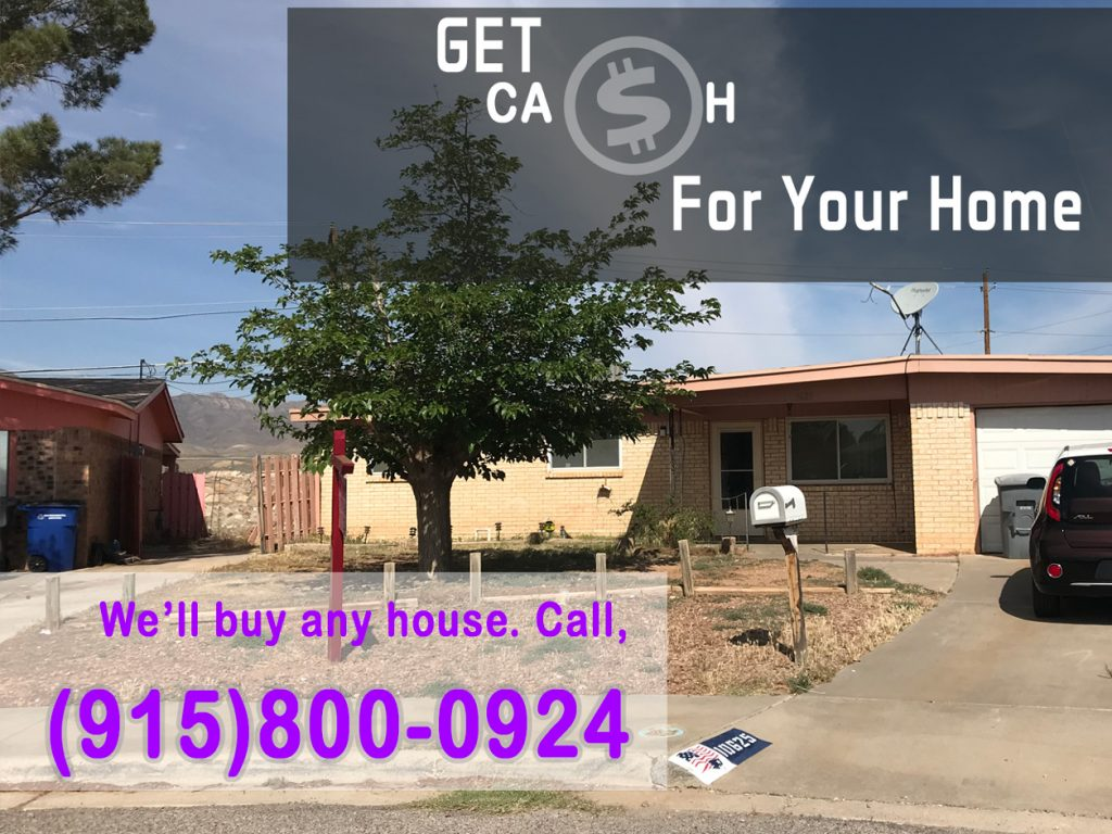 Cash for Homes fast in El Paso TX